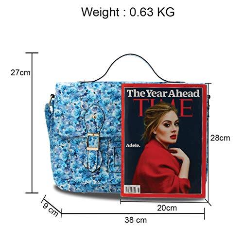 LeahWard Women's School 672 Floral Bags Kid's Satchel Shoulder Blue vpw5vrq