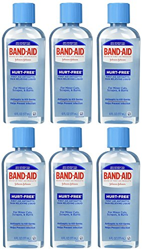 (Band-Aid First Aid Hurt-Free Antiseptic Wash, 6 Count)
