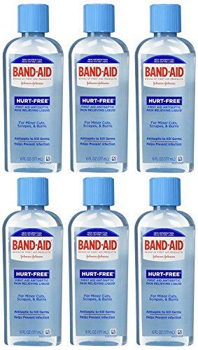 Band-Aid First Aid Hurt-Free Antiseptic Wash, 6 - Band Antiseptic Aid Wash