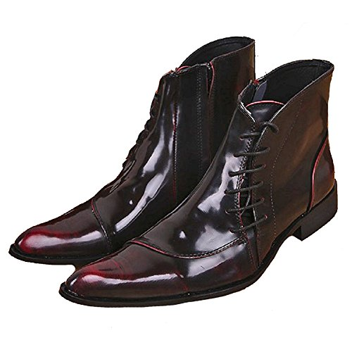 Pointed men's fashion formal leather boots ankle boots - 4