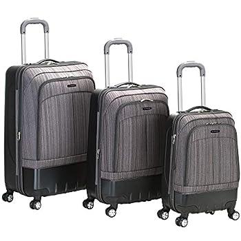 Image of Rockland Luggage Milan Hybrid Eva 3 Piece Luggage Set, Grey, One Size Luggage