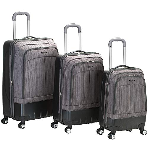 (Rockland Luggage Milan Hybrid Eva 3 Piece Luggage Set, Grey, One Size)