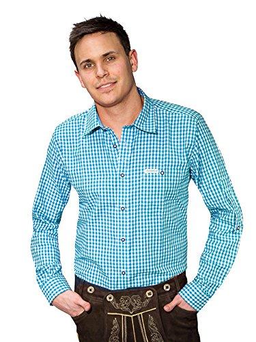 Trachten Hemd Campos langarm kariert blau weiss