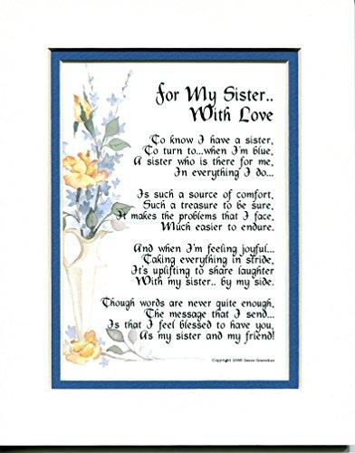 A Sister Poem Gift Christmas Birthday Present,, #63