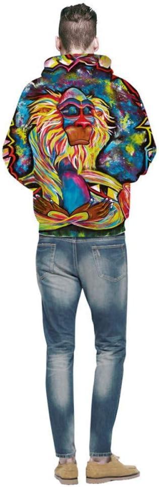 BAI Aassdd Sweatshirt Herren Langarm Pullover Herren Kapuzen Multicolor 3D Print Hoodies Herrenmode,** L * L