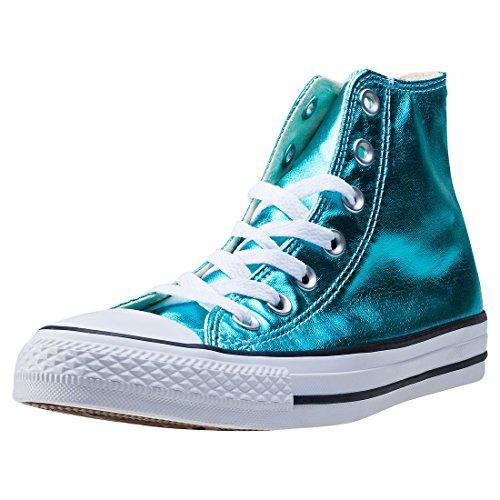 1J793 Converse Mandrini Charcoal Grey Chuck Taylor All Star HI Bleu