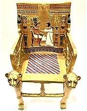 كرسي عرش الملك توت عنخ امون مصنوع من البوليستر وملون يدويا