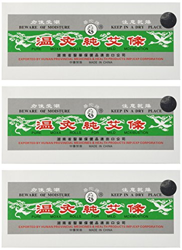 Pure Moxa Rolls for Mild Moxibustion (Box of 10 Rolls) - 3 boxes