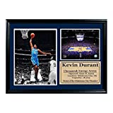 Encore Select 127-13 NBA Oklahoma City Thunder Framed Kevin Durant Photo and American Airlines Center Stadium Print, 12-Inch by 18-Inch