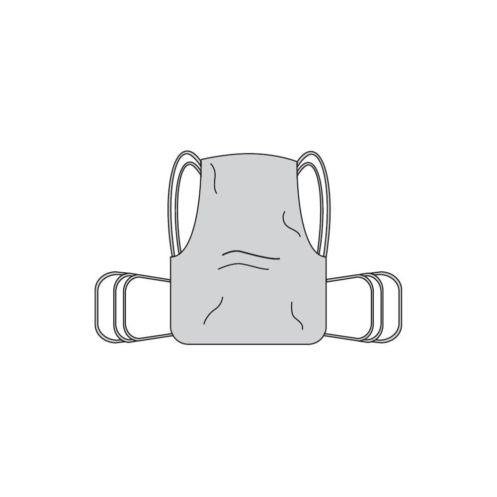 Drive Medical One Piece Sling with Positioning Strap, with Commode Cutout, Small