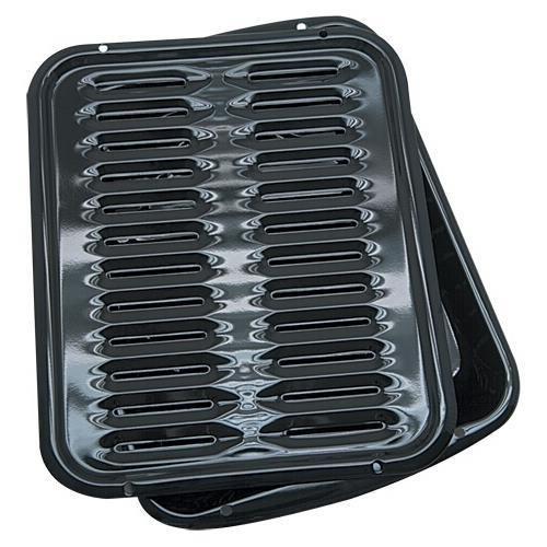 Range Kleen BP1026X 2 Piece Porcelain Broiler Set, Black (Range KleenBP1026X )