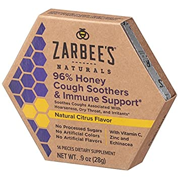 Amazon Com Zarbee S Naturals 96 Honey Cough Soothers Immune
