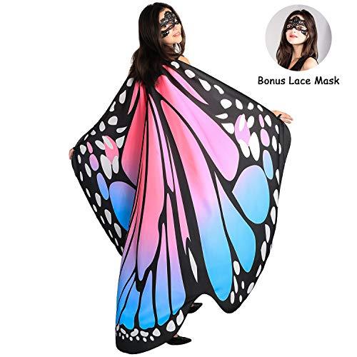 SIPU Butterfly Wings for Women, Monarch Soft