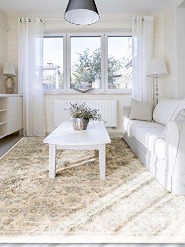 benuta Teppiche: Klassischer Orientteppich Vintage Flowers Cream 120x170 cm - schadstofffrei - 100% Polypropylen - Ziegler - Maschinengewebt - Wohnzimmer