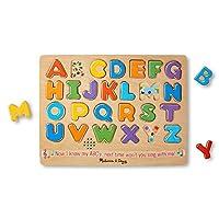 Melissa & Doug Alphabet Sound Puzzle - Puzzle de madera con efectos de sonido (26 uds)