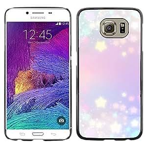 Planetar® ( Stars Glitter Purple Blue Lights Blue ) Samsung Galaxy S6 / SM-G920 / SM-G920A / SM-G920T / SM-G920F / SM-G920I Fundas Cover Cubre Hard Case Cover