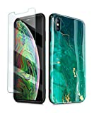 GVIEWIN Marble iPhone Xs Case/iPhone X Case, Ultra Slim Thin Glossy Soft TPU Rubber Gel Phone Case Cover Compatible iPhone X/iPhone Xs 2018, 5.8