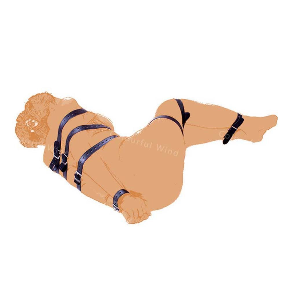 Sexbaby 7 Pieces Full Body Bondage Restraint Straps Unisex Adult Sex Toy