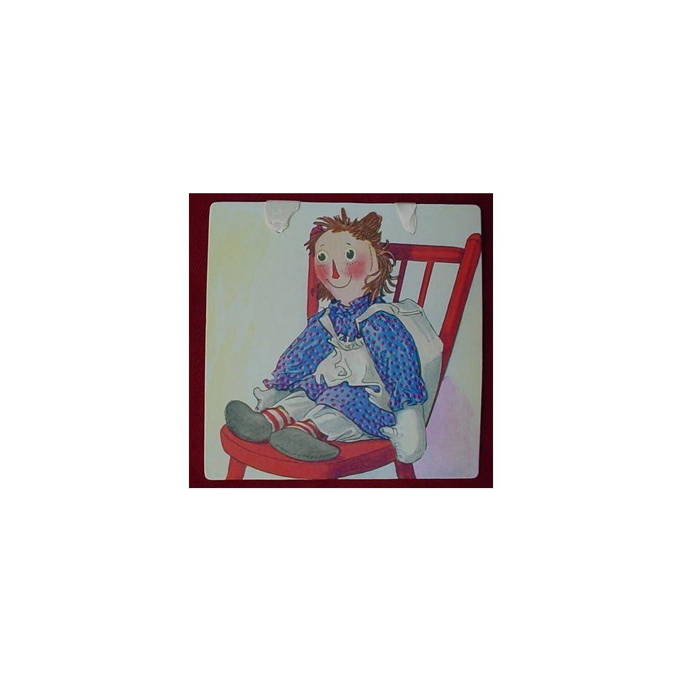 RAGGEDY ANN Wall Decor NURSERY ART CARD 8 1/2 Ready to Hang