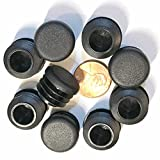 (Pack of 25) 3/4'' OD Round End Caps (14-20 Ga - 0.59'' - 0.69'' (ID) Inside Diameter for Tube Covers || 0.75 Inch Sliding Inserts | Furniture Chair / Table Leg Caps | Fitness Eqpt End Caps | by SBD