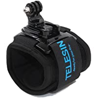 TELESIN 360 Degree Rotary Wrist Strap Arm Mount Band Holder Cycling Mount with J Hook Rotation Mount for GoPro Hero 7…