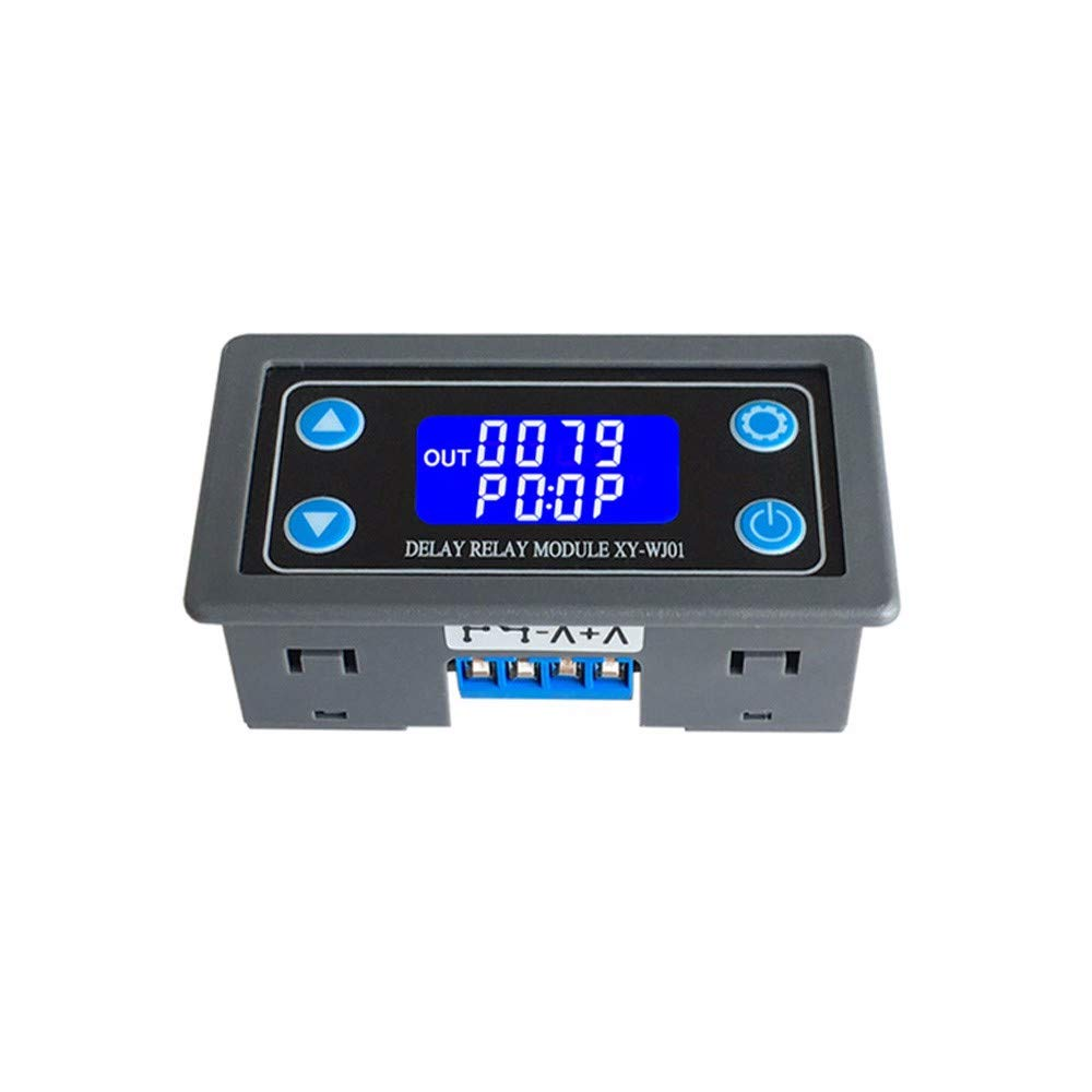 WHDTS Time Delay Relay Module Digital LCD Display 6-30V Control Timer Switch Trigger Cycle Module for Smart Control