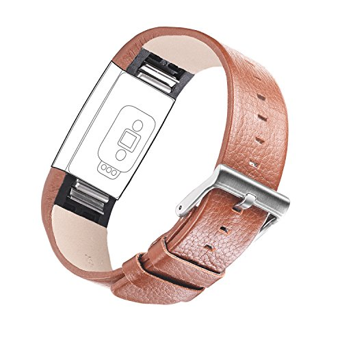 Buckle Dark Chocolate (For Fitbit Charge 2, TreasureMax Leather Replacement Band for Fitbit Charge 2 Band / Charge 2 / Fitbit 2 / Charge 2 Fitbit / Fitbit Charge 2 Bands,Dark Brown (No)