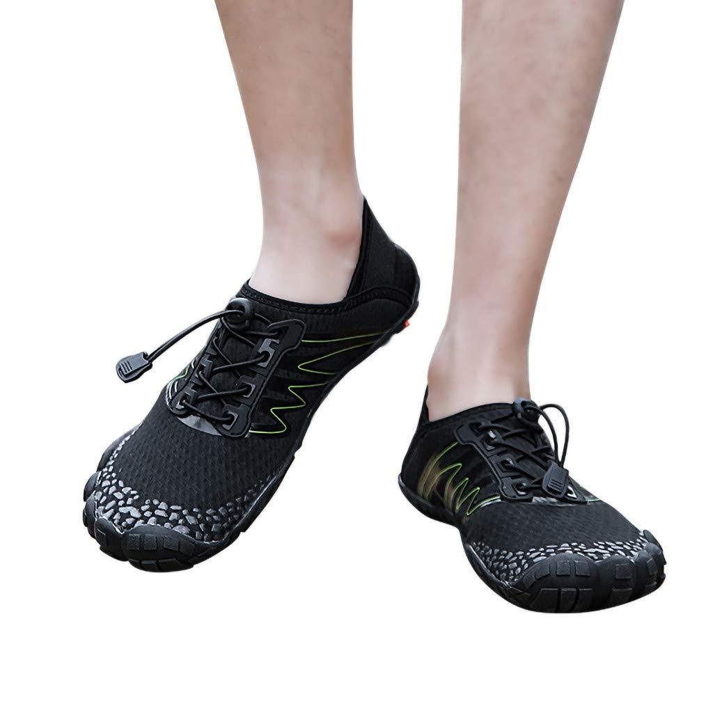 yoyorule Casual Shoes Summer Couple Beach Swim Water Shoes Quick-Dry Aqua Drawstring Creek Diving Shoe