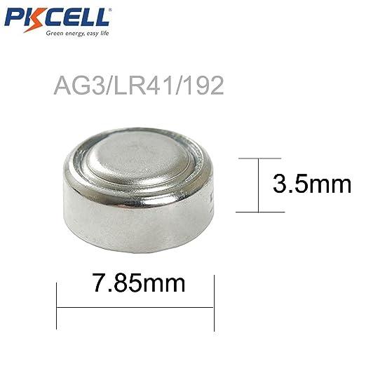 30 baterías de botón LR41, AG3, G3, 384, 392, SR41W; para celular y reloj por PKCELL: Amazon.es: Electrónica