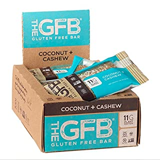 The GFB Gluten Free Protein Bars, Coconut + Cashew, 2.05 Ounce (Pack of 12), Vegan, Dairy Free, Non GMO, Soy Free