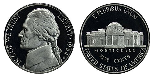 1984 S Proof Jefferson Nickel PF1