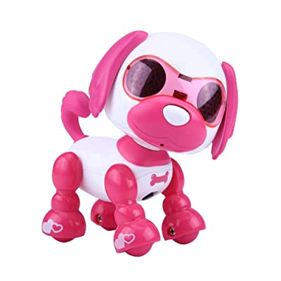 LNLJ Interactive Puppy, Electronic Intelligent Pocket Pet Dog, Kids Robot Toy, Touch Sensitive, Gifts Idea for Boy and Girl,Red: Sports & Outdoors