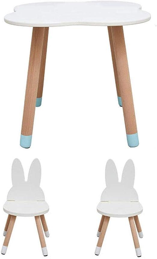 ZH Ensemble table et chaise en bois pour enfants, chambre d