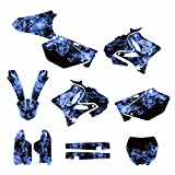 Yamaha YZ125 YZ250 2002-2014 Dirt Bike Graphics Decal Kit By Allmotorgraphics No9500 Blue