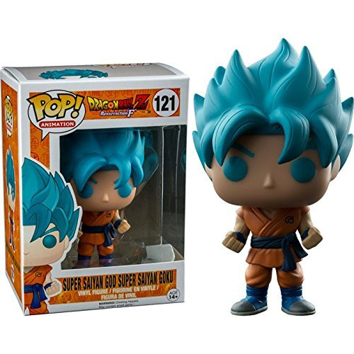 Funko - Figurine Dragon Ball Z - Super Son Goku God Blue Exclu Pop 10cm - 0849803097103