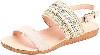 Alaso Femmes Bohême Chaussures Plates Chaussons Tongs
