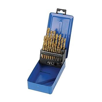HSS Spiralbohrer Bohrer Metallbohrer Set 19-tlg Ø 1-10mm für Heimwerker NEU