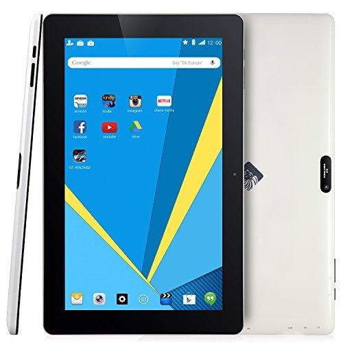 KingPad K100 10 Inch 16GB Nand Flash Quad Core Android Tablet (1GB RAM, IPS Display 1366x768, Dual Camera, Bluetooth) (1 Year US Warranty)