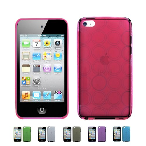 Touch 4 4G w/ Cameras ( iPod Touch 4G, iPod Touch 4th Generation) 16GB 32GB 64GB BUBBLE TPU Transparenet Silicone Gel Case Skin Cover + Free Screen Protector ()