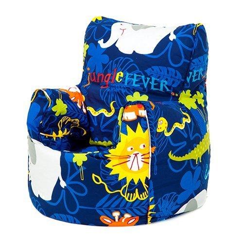 Jungle Fever Animals Print Childrens Ready Filled Fun Bean Bag Chair Seat Kids Toddler Furniture