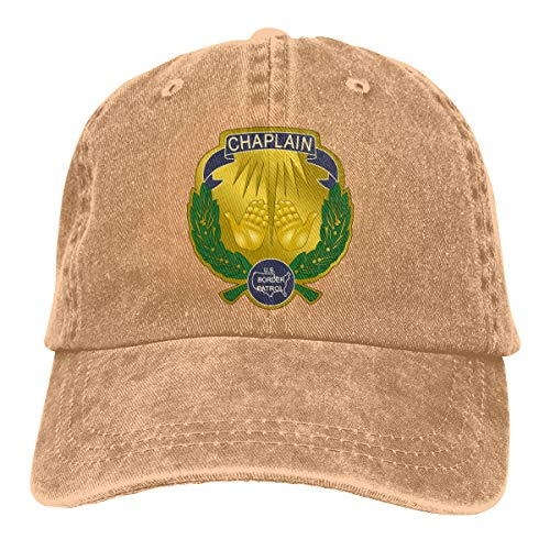 Badge of A United States Border Patrol Chaplain Unisex Trucker Hats Dad Baseball Hats Driver Cap