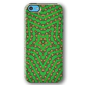 Kaleidoscope Christmas Bear with Candy Cane iPhone 5C Armor Phone Case