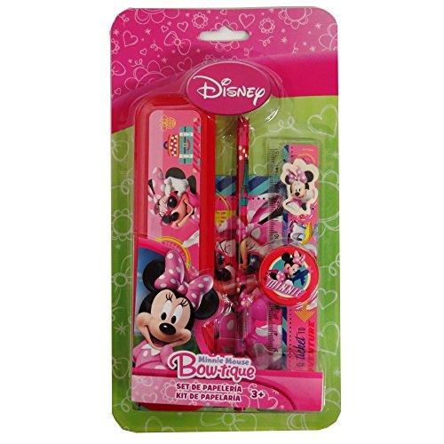 - Astro Disney Minnie Mouse Bow-tique Stationery Set, Notebook, Box Case, Ruler, Eraser, Sharpener, Pencil
