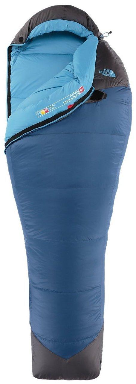 The North Face Azul Kazoo - Saco de Dormir (Ensign Azul/Asfalto Gris Mano Derecha Corto: Amazon.es: Deportes y aire libre