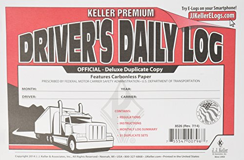 J.J. Keller 8526 Driver's Daily Log Book