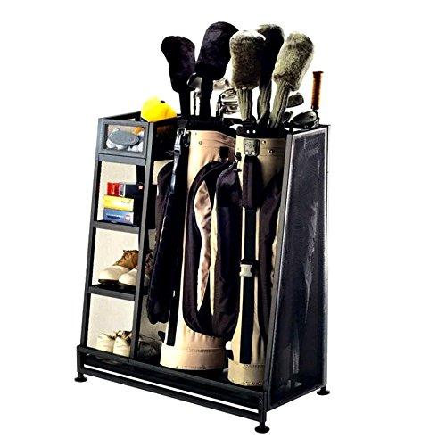 Golf Organizer Rack (International Sports Organizer Storage Rack for Golf Equipment, Garage Free Standing Sports Rack & E-Book)