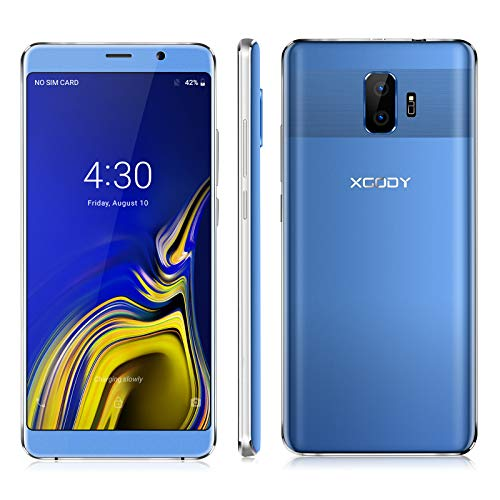 Xgody 6 Inch Android 8.1 Cellphone Unlocked ROM 8GB+RAM 1GB Telefonos Desbloqueados Screen Dual Camera Support 2G/3G Network for T-Mobile/AT&T Other GSM