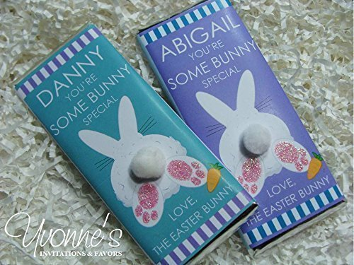 Easter Bunny Candy Bar Wrappers-Personalized Wrappers for Ch