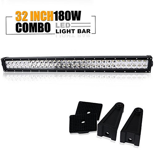 Yamaha Rhino Plows (32 In Led Light Bar Offroad Driving Fog Lights Reverse Backup Lights On Roof Grille Bumper For F150 Golf Cart Jeep Truck Yamaha Rhino Atv 4 Wheeler Rzr Boat Side By Side Tacoma Polaris Ranger 12-24V)