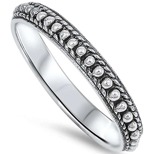 925 Sterling Silver , Simulated Solid Bali Style Band royal ring design